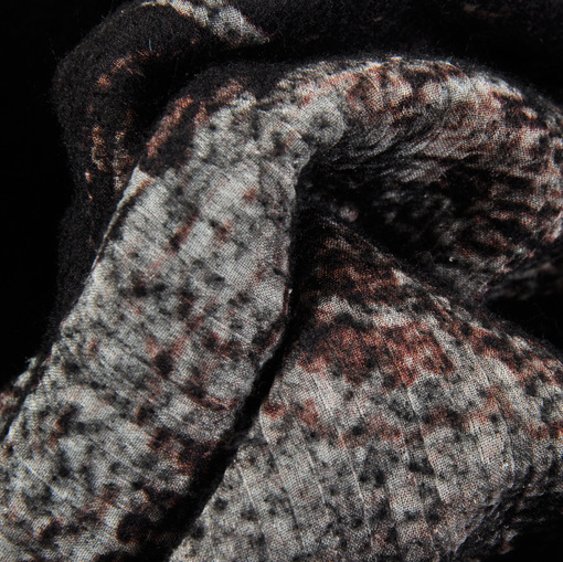 Пальтовая купонная ткань двухслойная валянная с принтом
