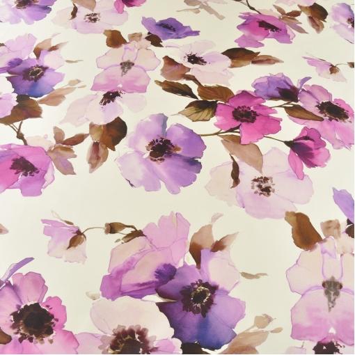 Атласный шелк с цветочным рисунком