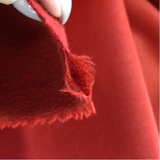 Ткань пальтовая двойная (doubleface) дизайн Max Mara ярко-красного цвета