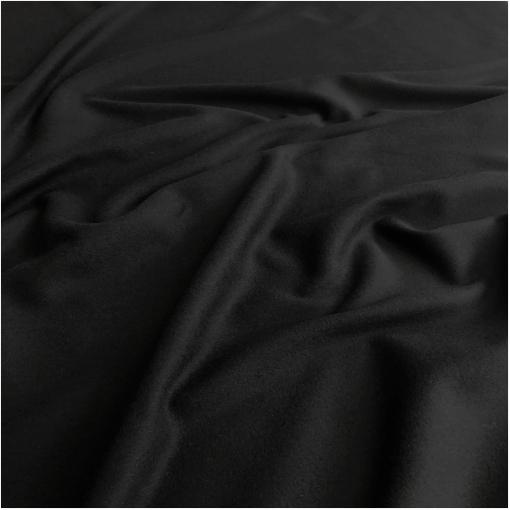 Ткань пальтовая шерсть с кашемиром Max Mara double face черного цвета