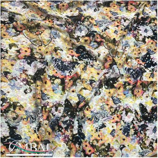 Кружево макраме дизайн Ferragamo цветы и бабочки