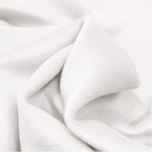 Ткань пальтовая двойная (dable face) белого цвета