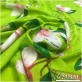 Шелк жаккардовый принт Gai Mattiolo салатного цвета с магнолиями