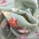 Шелк жаккардовый принт Ungaro цветы на оливковом фоне