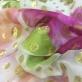 Шелк креповый принт Gai Mattiolo бело-розовые горохи с люрексом