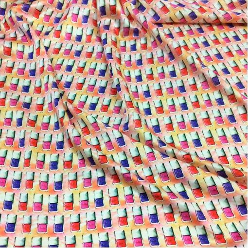 Шелк атласный принт Dior маникюрные лаки