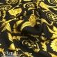 Шелк матово-атласный принт Vercsace барокко с ангелами на черном фоне