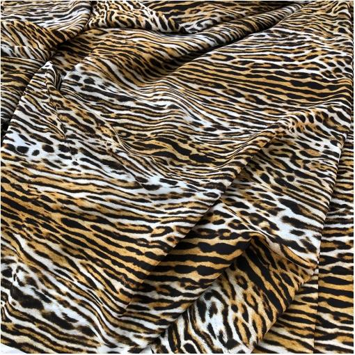 Шелк матовый принт Burberry под леопард