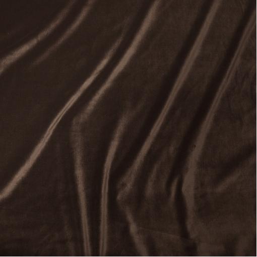 Бархат стрейч коричневый на хлопковой основе