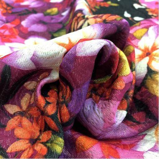 Жаккард костюмно-плательный LACROIX купон яркие цветы