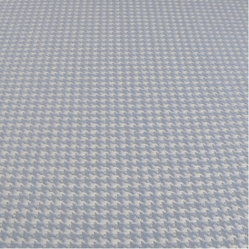 Пальтовая шерсть пье-де-пуль с мохером голубого цвета