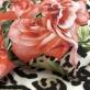 Шелк креповый матовый принт Blumarine купон коралловые розы и леопард