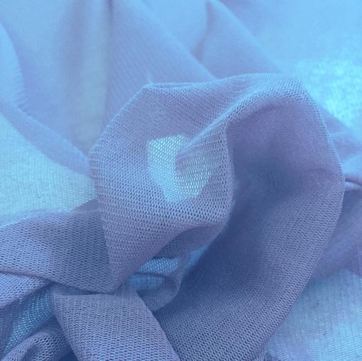 Сетка стрейч небесно-голубого цвета